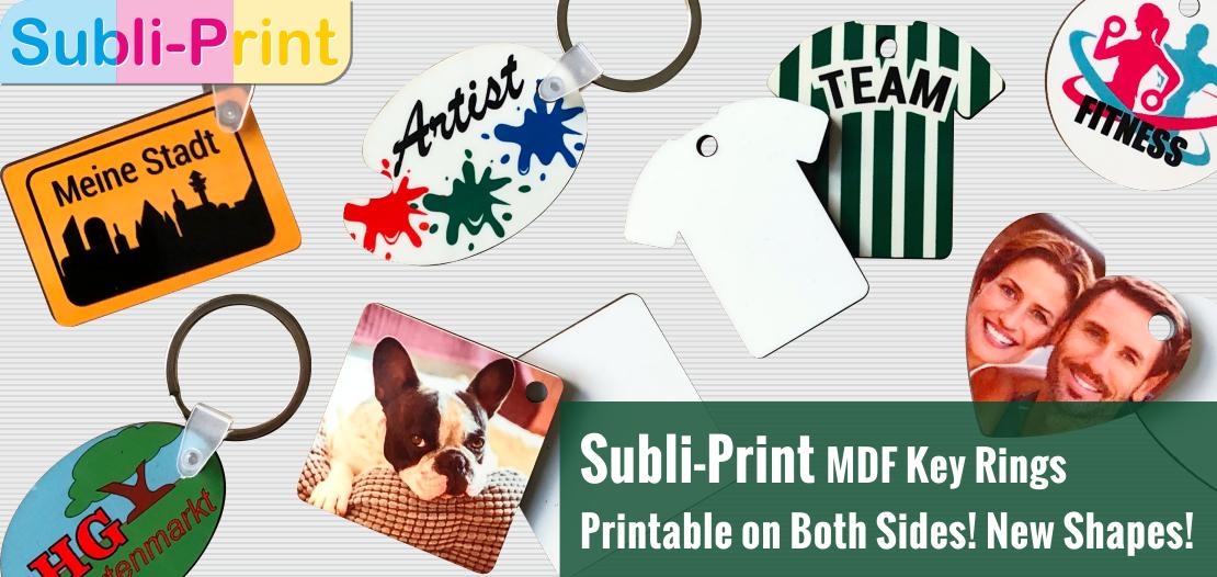 New Subli-Print MDF Key Rings