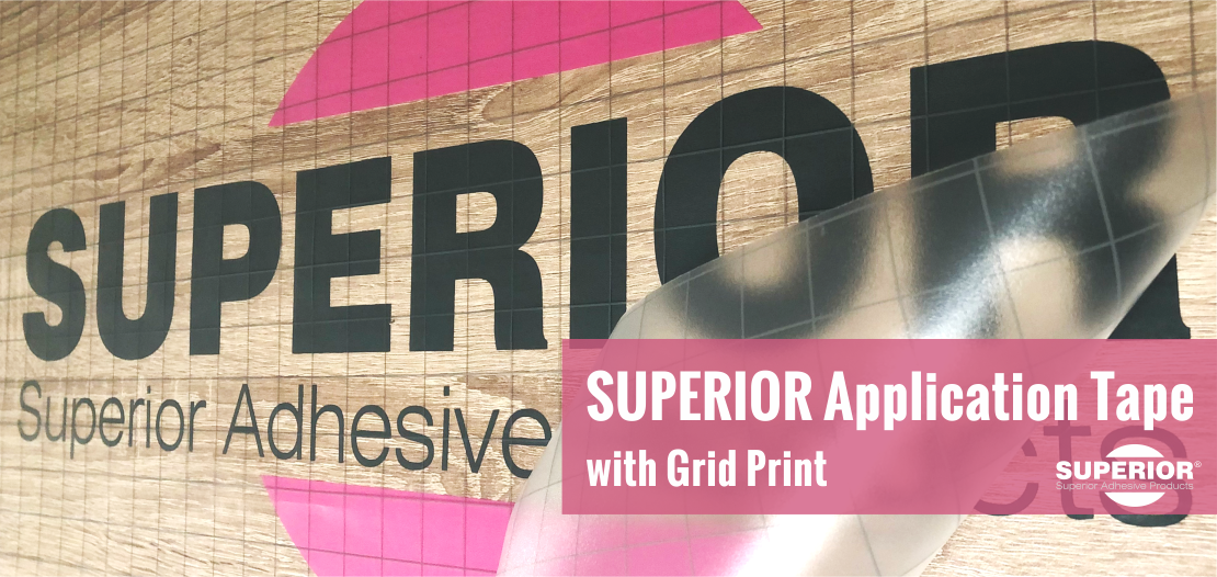 SUPERIOR Application Tape with Grid Print
