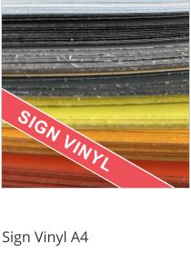 Sign Vinyl A4